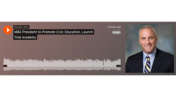 MBA President to Promote Civic Education, Launch Trial Academy