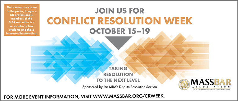 Join the MBA for Conflict Resolution Week