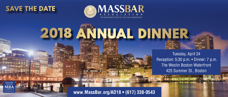 Save the Date: 2018 MBA Annual Dinner