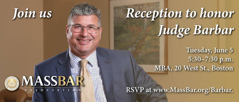 Reception to honor Judge Barbar