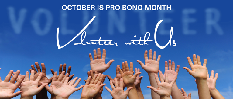 October is Pro Bono Month
